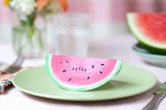 Watermelon Place Cards DIY