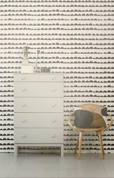 half moon wallpaper. ferm living available at walnut wallpaper #wallpaper