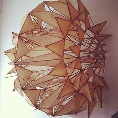 Irving Harper, paper sculpture // http://en.wikipedia.org/wiki/Irving_Harper  http://www.metropolismag.com/html/content_0601/har/index.html  #modernism #industrialdesign #hermanmiller #georgenelson