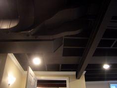 Cool Home Creations: Finishing Basement: Black Ceiling