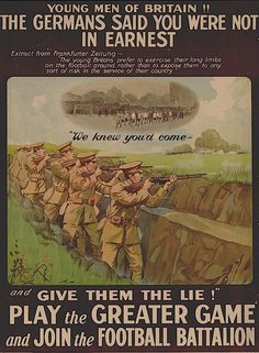 First World War Recruiting Poster.