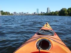 Kayaking the Charles River, Boston, Mass.