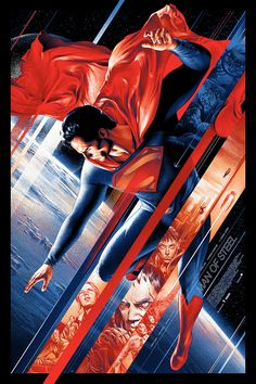 Man of Steel Poster Designs by Ken Taylor and Martin Ansin. Don't care much for Superman but the design is amazing