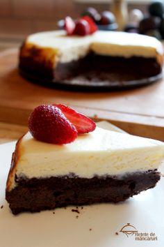 Retete de mancaruri: Brownie cheesecake http://retete-de-mancaruri.blogspot.ro/2014/04/brownie-cheesecake.html