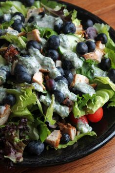 Blueberry Chicken Salad with Creamy Herb Dressing