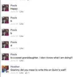 Grandma's on Facebook