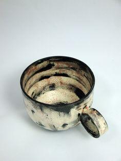 Large Wheel-Thrown Earthenware coffee or  tea cup  by AtwaterCeramics