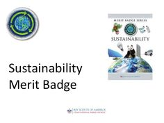 Sustainability Merit Badge for Boy Scouts