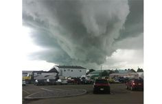 Tornado touches down near Olds #yeg #newspapers #tornado
