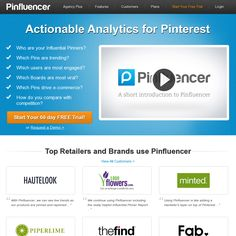 Actionable Analytics for Pinterest