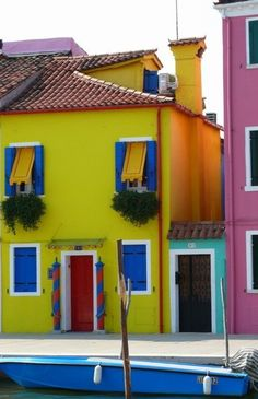 home colors, buy a house, colorful houses, burano, vibrant colors, venice italy, small houses, place, bright colors