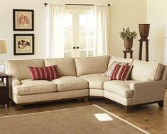 Small sectional sofa with wedge