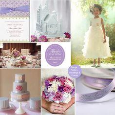 Fairy Tale Wedding in Pantone's African Violet #wedding #fairytalewedding #disneywedding #fairytaleweddinginvitations