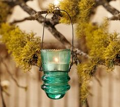 How to Make a Unique Garden Lantern from old insulators! These are Gorgeous!