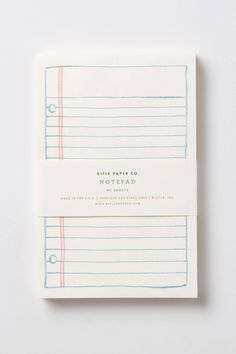 Rifle Paper Co. notepad #anthropologie