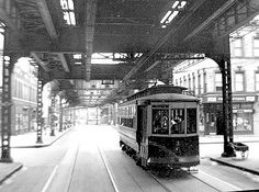 Trolley in Brooklyn 1943. In the 1950s New York replaced all the trolleys with buses. Biddy Craft `