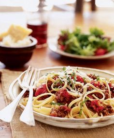 """Bolognese Sauce - great over Zucchini """"pasta"""". Omit the sugar to keep it low-carb and healthier"""