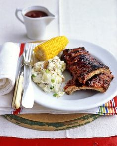 Pork Ribs with Barbecue Sauce Recipe