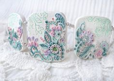 polymer clay bracelets, polym clay