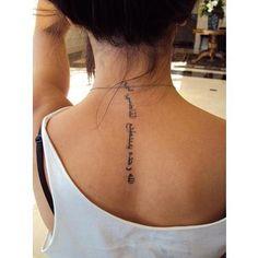 tattoo ideas, tattoo placements, neck tattoos, word tattoos, quote tattoos