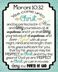 Come Unto Christ - printable with complete scripture