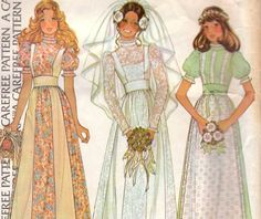 70s Dress or Wedding Gown McCalls 4038.