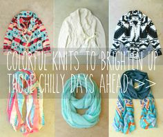 Colorful Knits to Brighten Those Chilly Days <3
