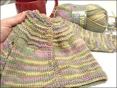 Five hours baby sweater - (newborn/6 months) - easy