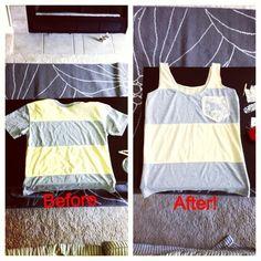 workout tshirt, tshirt redo, att göra, diy tshirt tanktop