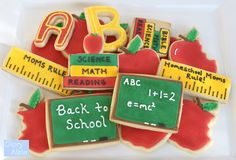Back to School/ Teacher Cookies by Glorious Treats