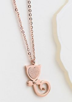 Rose Gold Cat Necklace