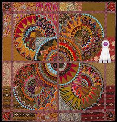 2013 Quilt Expo Quilt Contest, 3rd Place, Category 7, Wall Quilts, Machine Quilted Pieced: Circus, Circus, Jan Soules, Elk Grove, Calif.