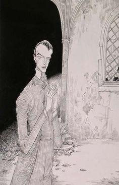 Chris Riddell, illustration from Neil Gaiman's 'The Graveyard Book'