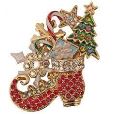 Christmas Dreams Elf Shoe Pin