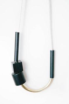 Chock A Block Brass Necklace - @ Parc Boutique