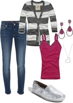 pink and grey, created by meredith-wilson on Polyvore