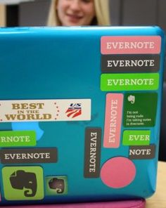 Using the app Evernote in the classroom. Parents and students can access copies of assignments, notes, reviews, etc. at home.