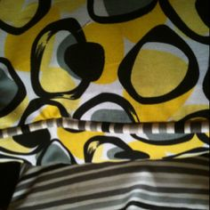 Loving yellow and grey...on these two pillows I made.