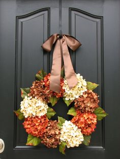 Fall Autumn Leaves Fall Wreaths Autumn Decor by twoinspireyou, $85.00