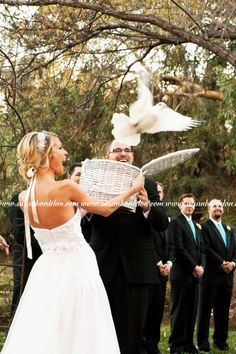 Looking for a dove release at the end of your ceremony? Contact Revolution Ministry (Yucaipa CA) at http://www.revolutionwed.com