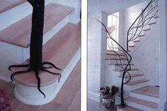 tree banist, stair