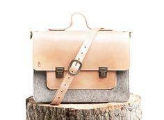 Messenger Bag 13 inch MacBook Pro Sleeve  Grey Wool by ccommeca, $285.00