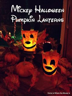 13 Disney Nights of Halloween - #13 Mickey Halloween Lantern Craft   Home is Where the Mouse is