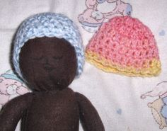 Preemie plum hat - This hat was created when I heard about a need for preemie hats that would fit a plum. Used mostly for fetal demise hats.