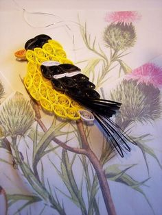 Quilled Goldfinch Ornment by Not Just Quilling, via Flickr