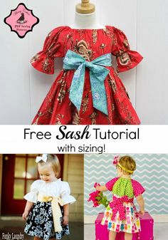 Whimsy Couture Sewing Blog: Free Sash Tutorial