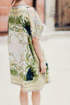 DIY scarf kaftan dress