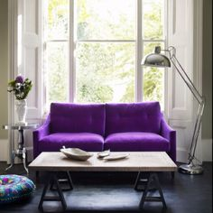 Purple Couch for two!