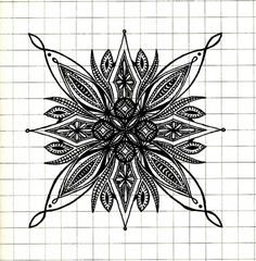 i like to draw tiny symmetrical things on graph paper