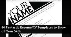 preview fantastic resume cv show off skills freebies photo